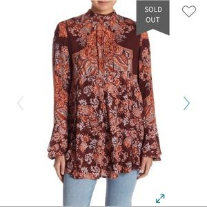 Free People Lady Luck Tunic Top. Size XS.